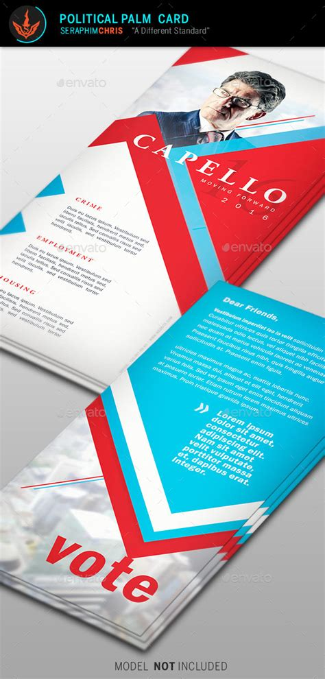 Political Palm Card Template Word by Political Palm Card Template 6 By Seraphimchris Graphicriver