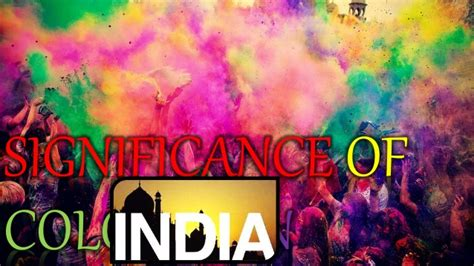 significance of colors significance of colours in india