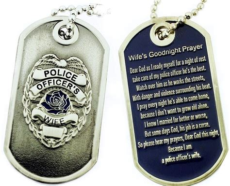 Officers Prayer by Officer S Prayer Brushed Steel Tag