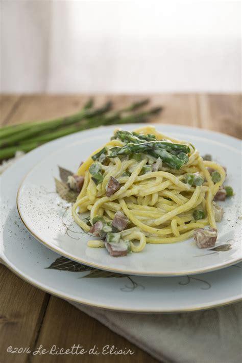 come cucinare gli asparagi con la pasta pasta asparagi speck e panna ricetta pasta asparagi