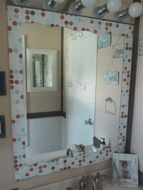 mirror borders bathroom contact paper border on mirror diy bathroom pinterest
