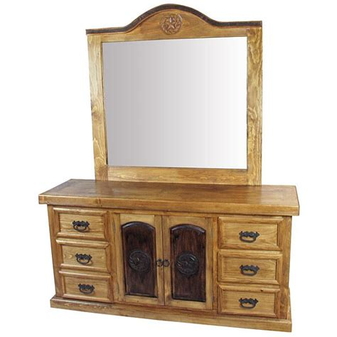 rustic pine dresser with mirror rustic pine texas lone star dresser with mirror this