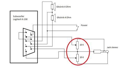 subwoofer x 232 logitech podłączenie elektroda pl