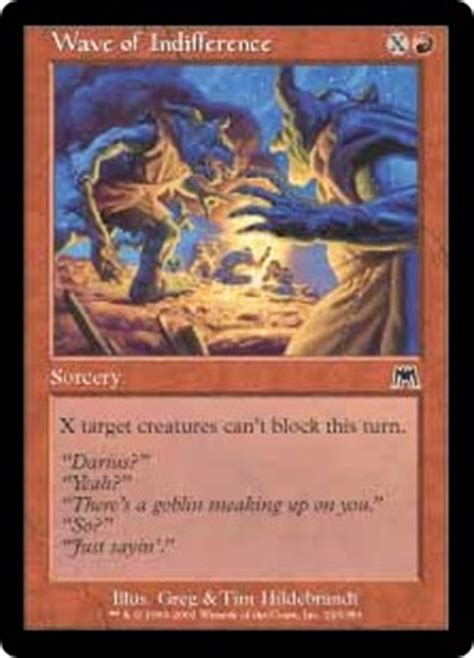 wave  indifference sorcery cards mtg salvation