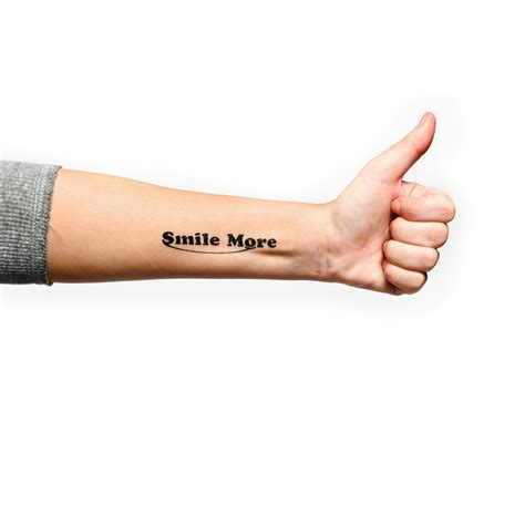smile more tattoo smile more temporary 4 pack the smile more store