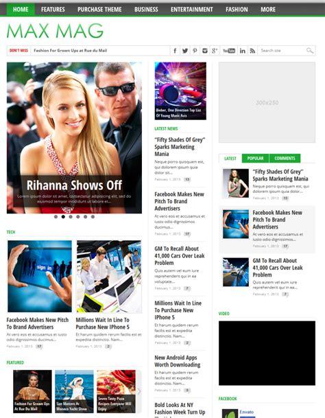 Max Mag Responsive Wordpress Magazine Theme Download Theme Free Responsive Magazine