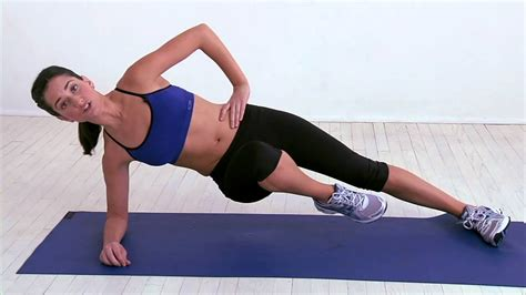 side plank with knee tuck reveal your abs for