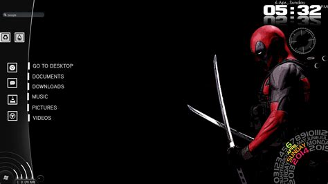 deadpool windows 7 theme deadpool v1 0 by thewolfofthericewine on deviantart