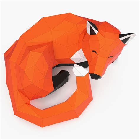 Papercraft 3d Model - fox papercraft 3d model 10 oth obj fbx max free3d