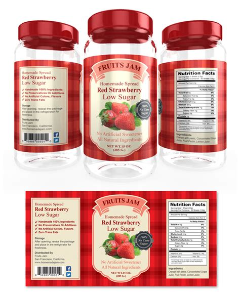 strawberry jam label template