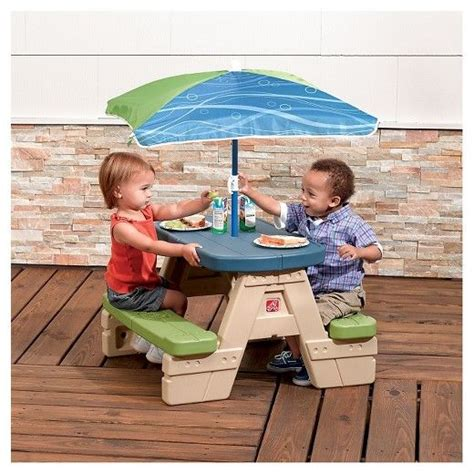 best picnic table umbrella best 25 picnic table with umbrella ideas on