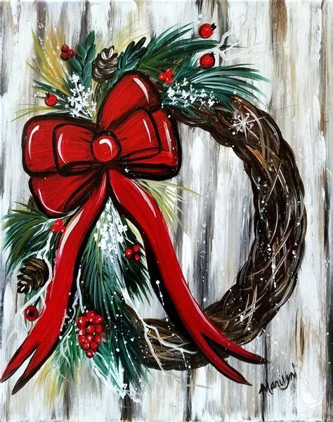 paint with a twist in lewisville not shabby wreath new wednesday