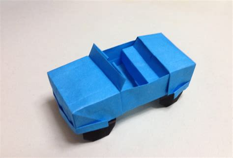 Origami Paper Car - how to make a origami jeep car