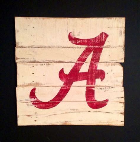 alabama sports fan wall decor roll tide pallet by the 52 best images about awesome stuff on pinterest love