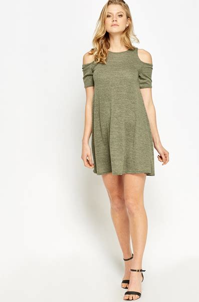 Cut In A Line Dress cut out shoulder a line dress just 163 5