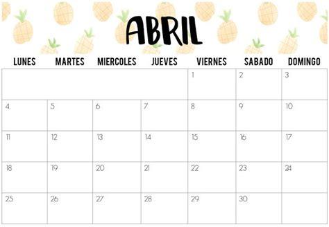 Calendario 9 De Abril Calendarios De Abril 2016 Imprimibles Especial