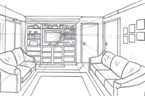 desain interior ruang tamu 1 titik lenyap pengertian gambar perspektif dan contohnya lengkap