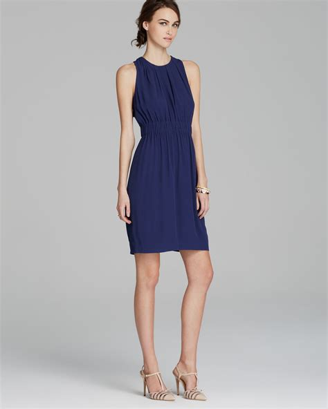 Xaira Dress C Blue lyst kate spade new york carlie dress in blue
