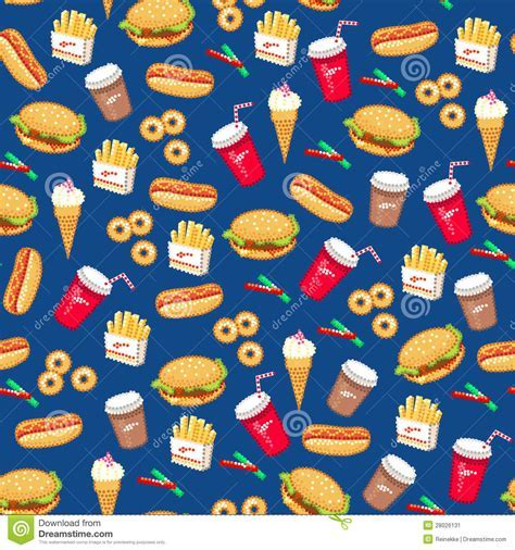 Fast Food Pattern Stock Image   Image: 28026131