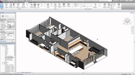 How To Make 3d Floor Plans autodesk revit lt 2015 presentation youtube