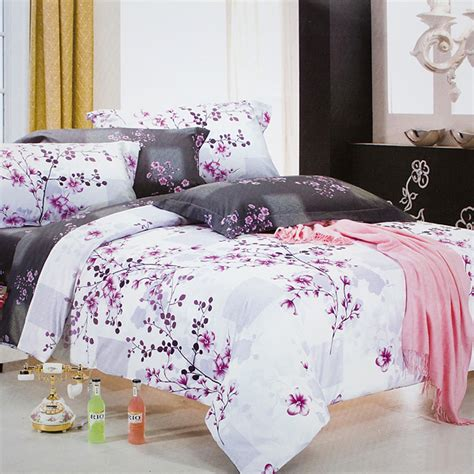 Size Bed In A Bag by Blancho Bedding Plum In Snow Luxury 7pc Bed In A Bag
