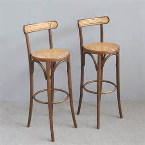Thonet Bar Stool Pair Of Bar Stools In The Thonet Style At 1stdibs