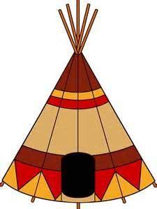 teepee pattern   printable outline  crafts