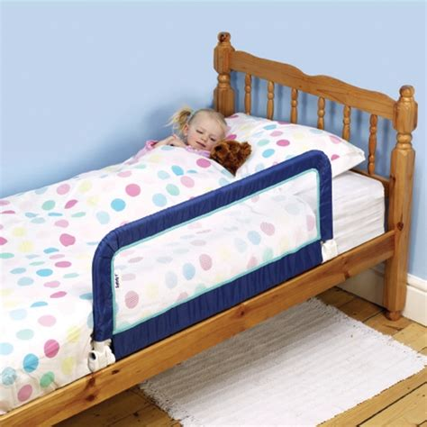 baby safety bed guard portable bedrail blue foldable adjustable security ebay
