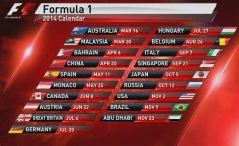 Calendario F1 2014 Calendario 2014 Formula 1 Programmazione Sky