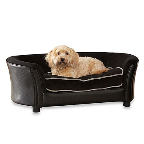 bed bath and beyond dog bed enchanted home pet ultra plush panache sofa in black bed