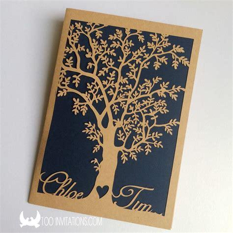 custom laser cut and groom s name tree pocket