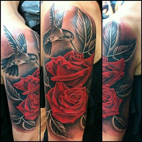 hummingbird with rose tattoos hummingbird with roses search
