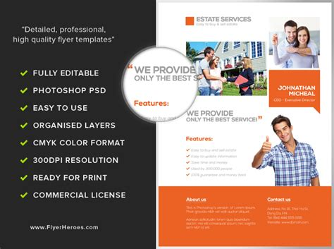 Real Estate Services Flyer Template Flyerheroes It Services Flyer Template