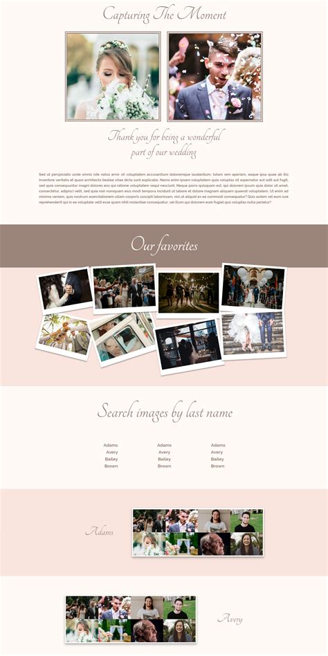elegant themes gallery page how to create a wedding gallery page with divi elegant