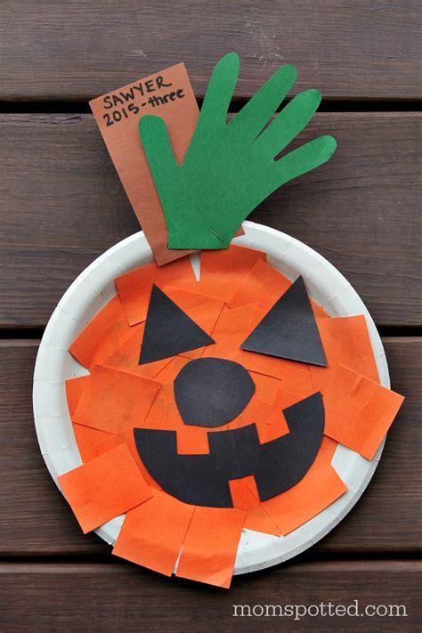 O Lantern Paper Craft - o lantern paper plate pumpkins crafts