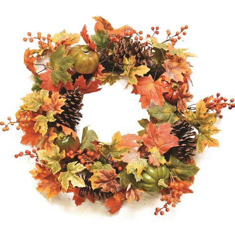 decorative fall wreaths northlight autumn harvest 20 quot decorative artificial fall