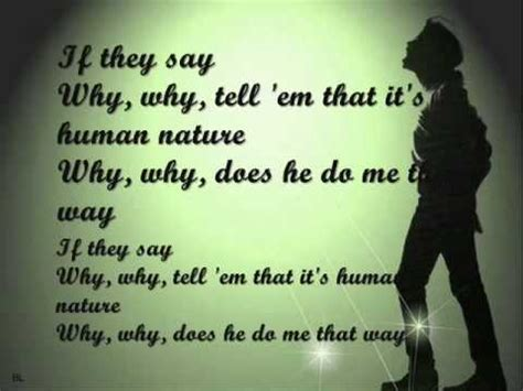Buy Michael Jackson Kills Lyrics by Michael Jackson Human Nature With Lyrics