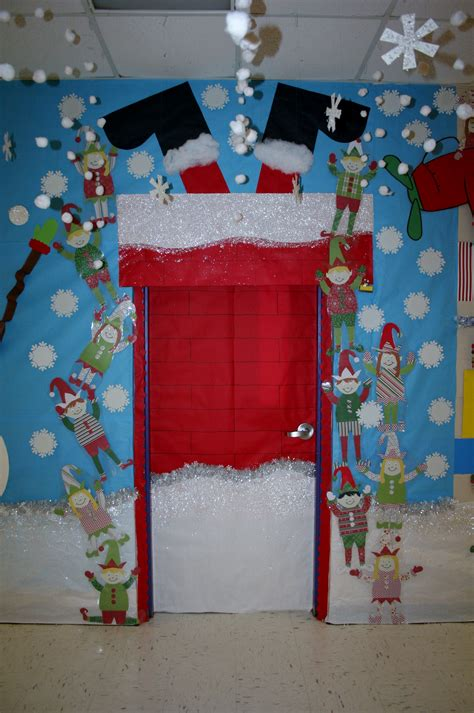 Santa Door Decoration by Santa Stuck Classroom Door Decoration Classroom Door