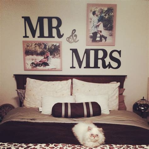 mr mrs letters above my bed easy and cheap got