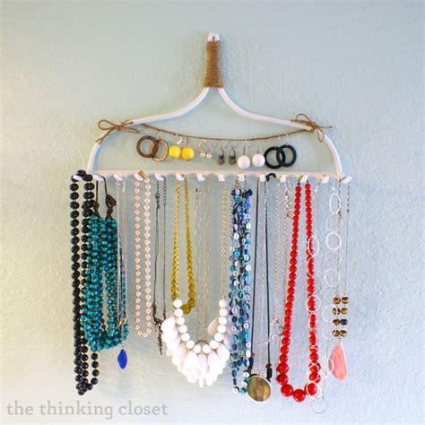 diy necklace hanger d i y rake necklace hanger the thinking closet