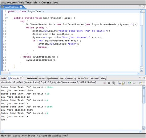 java tutorial keyboard input how do i accept text input in a console application web