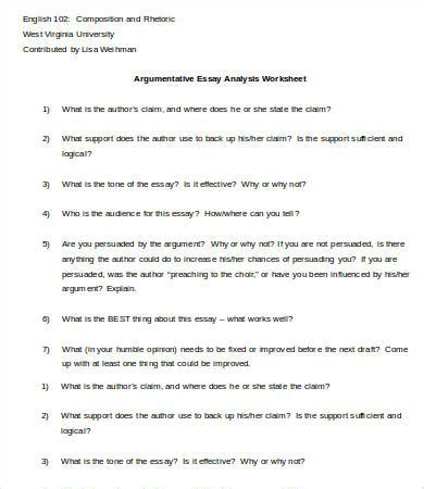 Argument Analysis Essay by Analysis Essay Template 7 Free Sles Exles Format Free Premium Templates