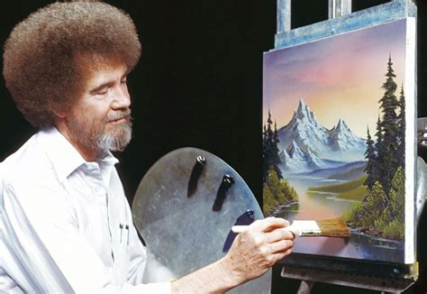 bob ross painting gray bob ross painting featured in presidential library