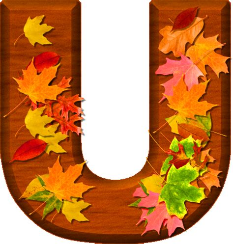 printable leaves with letters presentation alphabets cherry wood leaves letter u