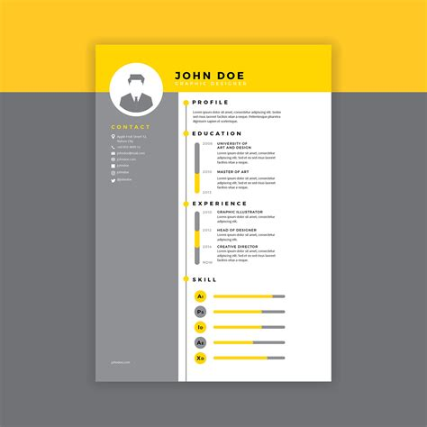 graphic design cv vector biography free vector art 5714 free downloads