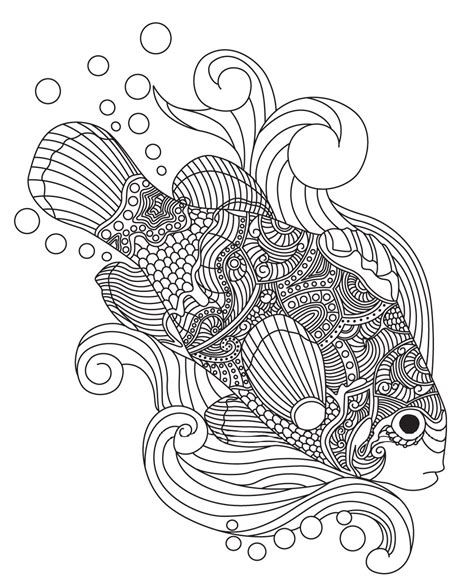 fish mandala coloring page fish colorish coloring book for adults mandala relax by