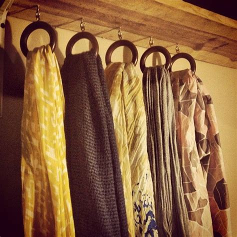 diy scarf curtains diy scarf hanger shelf curtain rings cup hooks for