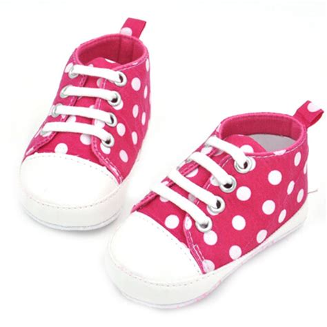 Sepatu Polka Black Anti Slip newest child walkers sports dots print anti slip