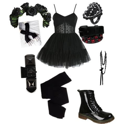 Goth Party Outfit   Polyvore