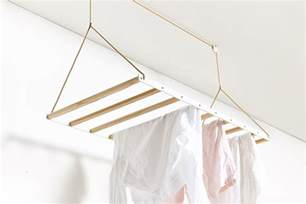 hanging drying rack ceiling mounted clothes line